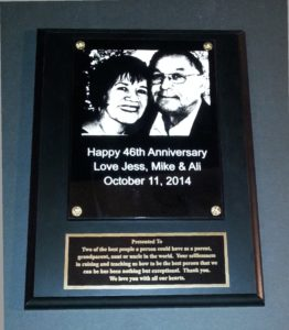 9x12 Plaque with Photo etched on Plexi $40.00