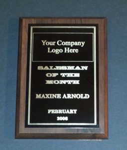 5 X 7 Employee recognition plaques.