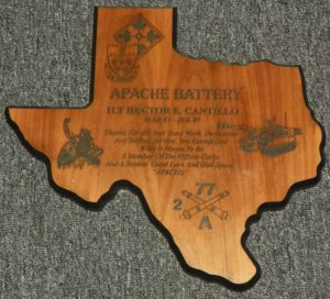 Large Texas Plaque $55.00 Eng. Included