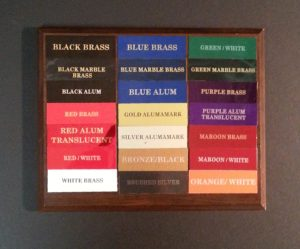 Multiple color Options (For Plaques and plates)